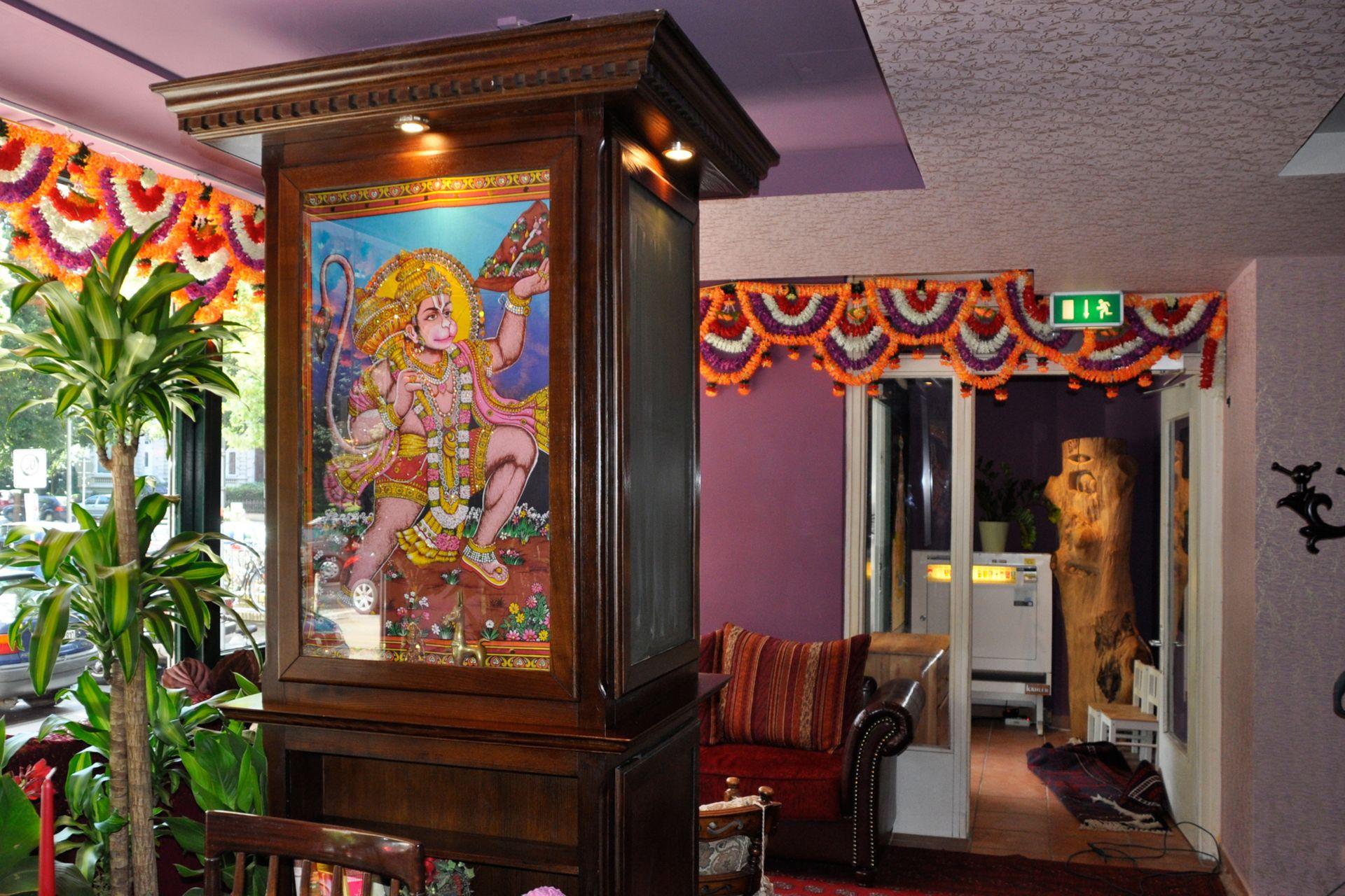 Wand- und Deckengestaltung im Restaurant Maharani in den Grindelhochhäusern