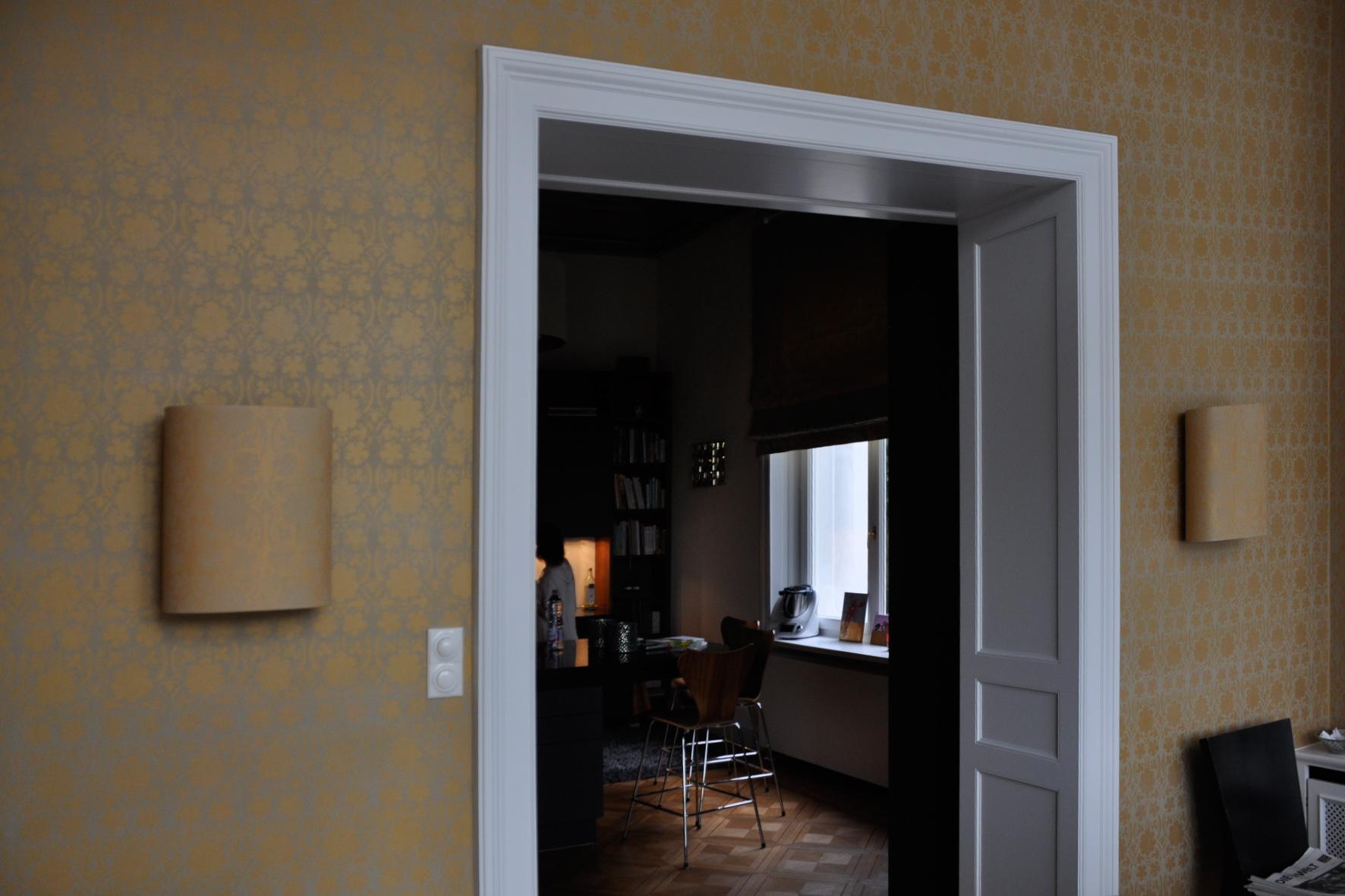 Schablonenmalerei Esszimmer - Privat